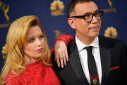 Natasha Lyonne (L) and Fred Armisen attend the 70th Emmy Awards at Microsoft Theater on September 17, 2018 in Los Angeles, California.