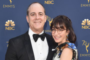 CEO of Showtime David Nevins and Andrea Blaugrund Nevins attend the 70th Emmy Awards at Microsoft Theater on September 17, 2018 in Los Angeles, California.