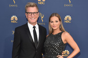 TBS' Kevin Reilly and Goloka Bolte attends the 70th Emmy Awards at Microsoft Theater on September 17, 2018 in Los Angeles, California.
