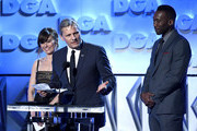 (L-R) Linda Cardellini, Viggo Mortensen, and Mahershala Ali speak onstage during the 71st Annual Directors Guild Of America Awards at The Ray Dolby Ballroom at Hollywood & Highland Center on February 02, 2019 in Hollywood, California.