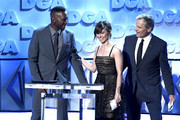 (L-R) Mahershala Ali, Linda Cardellini, and Viggo Mortensen speak onstage during the 71st Annual Directors Guild Of America Awards at The Ray Dolby Ballroom at Hollywood & Highland Center on February 02, 2019 in Hollywood, California.