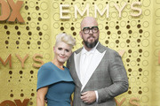 (L-R) Rachel Reichard and Chris Sullivan attend the 71st Emmy Awards at Microsoft Theater on September 22, 2019 in Los Angeles, California.
