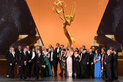 Cast and crew of 'Game of Thrones' accept the Outstanding Drama Series award onstage during the 71st Emmy Awards at Microsoft Theater on September 22, 2019 in Los Angeles, California.
