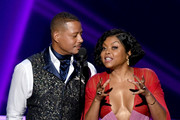 (L-R) Terrence Howard and Taraji P. Henson speak onstage during the 71st Emmy Awards at Microsoft Theater on September 22, 2019 in Los Angeles, California.