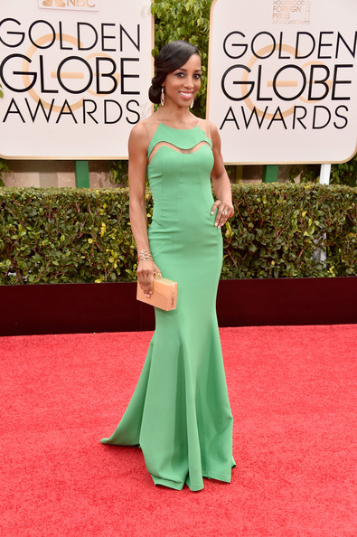 TV personality Shaun Robinson attends the 72nd Annual Golden Globe Awards at The Beverly Hilton Hotel on January 11, 2015 in Beverly Hills, California.