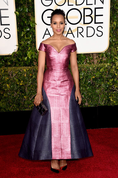 Actress Kerry Washington attends the 72nd Annual Golden Globe Awards at The Beverly Hilton Hotel on January 11, 2015 in Beverly Hills, California.