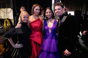 Kristin Chenoweth, Laura Benani, Lucy Liu and Anthony Ramos attend the 73rd Annual Tony Awards at Radio City Music Hall on June 09, 2019 in New York City.