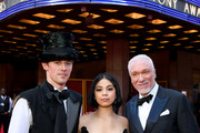 Reeve Carney, Eva Noblezada and Patrick Page attend the 73rd Annual Tony Awards at Radio City Music Hall on June 09, 2019 in New York City.