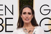 Louise Roe arrives at the 74th annual Golden Globe Awards at the Beverly Hilton Hotel in Beverly Hills, California on January 8, 2017.  / AFP / VALERIE MACON