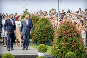 King Willem-Alexander of The Netherlands, Queen Maxima of The Netherlands, King Philippe of Belgium and Queen Mathilde of Belgium attend the 75th anniversary of the liberation of The Netherlands in Zeeland on August 31, 2019 in Terneuzen, Netherlands.