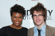 Actress Christina Sajous (L) and actor John Gallagher, Jr attend the 76th Annual Drama League Awards ceremony and luncheon at the Marriot Marquis on May 21, 2010 in New York City.