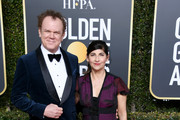 John C.Reilly and Alison Dickey attend the 76th Annual Golden Globe Awards at The Beverly Hilton Hotel on January 6, 2019 in Beverly Hills, California.