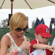 """Dezi James 77kids by American Eagle Denim Decorating at """"A Time For Heroes"""" Picnic"""