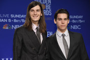 2020 Golden Globe Ambassadors Dylan Brosnan and Paris Brosnan attend the 77th Annual Golden Globe Awards Nominations Announcement at The Beverly Hilton Hotel on December 09, 2019 in Beverly Hills, California.