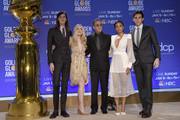 (L-R) Dylan Brosnan,  Dakota Fanning, Tim Allen, Susan Kelechi Watson and Paris Brosnan attend the 77th Annual Golden Globe Awards Nominations Announcement at The Beverly Hilton Hotel on December 09, 2019 in Beverly Hills, California.
