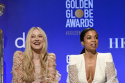 Presenters Dakota Fanning, and Susan Kelechi Watson attend the 77th Annual Golden Globe Awards Nominations Announcement at The Beverly Hilton Hotel on December 09, 2019 in Beverly Hills, California.
