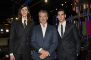 Dylan Brosnan, Pierce Brosnan and Paris Brosnan at the 77th Annual Golden Globe Awards Preview Day at The Beverly Hilton Hotel on January 03, 2020 in Beverly Hills, California.