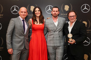 (L-R) Anthony Carrigan, D'Arcy Carden, Rightor Doyle and Stephen Root pictured in the press room of 78th Annual Peabody Awards Ceremony Sponsored By Mercedes-Benz at Cipriani Wall Street on May 18, 2019 in New York City.