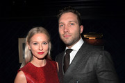 Mecki Dent and Jai Courtney attend the 7th AACTA International Awards at Avalon Hollywood in Los Angeles on January 5, 2018 in Hollywood, California.