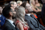 Jai Courtney (R) at the 7th AACTA International Awards at Avalon Hollywood in Los Angeles on January 5, 2018 in Hollywood, California.