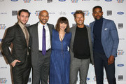 (L-R) Aaron Taylor-Johnson, host Keegan-Michael Key, Mary Steenburgen, Glen Powell, and Jay Ellis attend the 7th Annual Reel Stories, Real Lives event benefiting MPTF at Directors Guild Of America on November 8, 2018 in Los Angeles, California.