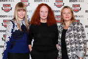 (L-R) Amy Astley, Grace Coddington and Eve MacSweeney attend Teen Vogue Fashion University at the Hudson Theatre on October 20, 2012 in New York City.