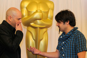 """Directors Yaron Shani (L) and Scandar Copti """"Ajami"""" attend the Academy Awards Foreign Language Film Award directors photo op at the Kodak Theatre on March 5, 2010 in Hollywood, California."""