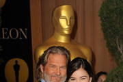 Actor Jeff Bridges (L) and actress Hailee Steinfeld arrive at the 83rd Academy Awards nominations luncheon held at the Beverly Hilton Hotel on February 7, 2011 in Beverly Hills, California.