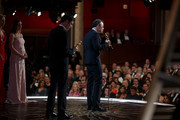 Screenwriter Josh Singer (L) and screenwriter-director Tom McCarthy accept the Best Original Screenplay award for 'Spotlight' onstage at the 88th Annual Academy Awards at Dolby Theatre on February 28, 2016 in Hollywood, California.