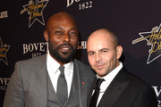 Actor Jimmy Jean-Louis (L) and David Belle attend the 8th annual Hollywood Domino Gala presented by BOVET 1822 benefiting Artists for Peace and Justice at the Sunset Tower Hotel on February 19, 2015 in Los Angeles, California.