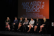 Amy Astley (L) and Teen Vogue Editors attend the 8th Annual Teen Vogue University on October 19, 2013 in New York City.