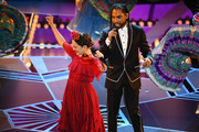 Singers Miguel (R) and Natalia Lafourcade perform onstage during the 90th Annual Academy Awards at the Dolby Theatre at Hollywood & Highland Center on March 4, 2018 in Hollywood, California.