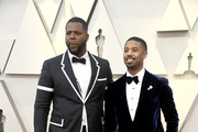 (L-R) Winston Duke and Michael B. Jordan attend the 91st Annual Academy Awards at Hollywood and Highland on February 24, 2019 in Hollywood, California.