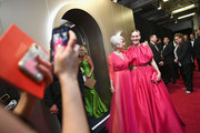 In this handout provided by A.M.P.A.S., Helen Mirren and Sarah Paulson pose backstage during the 91st Annual Academy Awards at the Dolby Theatre on February 24, 2019 in Hollywood, California.