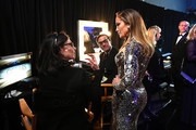 In this handout provided by A.M.P.A.S., Jennifer Lopez looks on backstage during the 91st Annual Academy Awards at the Dolby Theatre on February 24, 2019 in Hollywood, California.