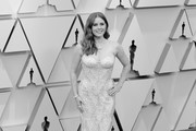 HOLLYWOOD, CALIFORNIA:  HOLLYWOOD, CALIFORNIA:  (EDITORS NOTE: Image has been converted to black and white.) Amy Adams attends the 91st Annual Academy Awards at Hollywood and Highland on February 24, 2019 in Hollywood, California.