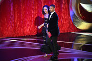 (L-R) Tessa Thompson and Michael B. Jordan walk onstage during the 91st Annual Academy Awards at Dolby Theatre on February 24, 2019 in Hollywood, California.