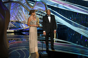 (L-R) Amandla Stenberg and U.S. Representative John Lewis speak onstage during the 91st Annual Academy Awards at Dolby Theatre on February 24, 2019 in Hollywood, California.
