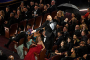 Retransmission with alternate crop.) Keegan-Michael Key descends to the floor during the 91st Annual Academy Awards at Dolby Theatre on February 24, 2019 in Hollywood, California.