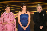 Retransmission with alternate crop.) (L-R) Maya Rudolph, Tina Fey, and Amy Poehler speak onstage during the 91st Annual Academy Awards at Dolby Theatre on February 24, 2019 in Hollywood, California.