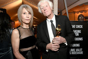 """Cinematographer Roger Deakins, winner of the Cinematography award for """"1917,"""" (R) and wife Isabella James Purefoy Ellis attend the 92nd Annual Academy Awards Governors Ball at Hollywood and Highland on February 09, 2020 in Hollywood, California."""