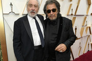Robert De Niro (L) and Al Pacino attend the 92nd Annual Academy Awards at Hollywood and Highland on February 09, 2020 in Hollywood, California.