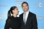 Roselyn Sanchez and Eric Winter attend the 9th Annual American Humane Hero Dog Awards at The Beverly Hilton Hotel on October 05, 2019 in Beverly Hills, California.