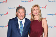 Tony Bennett and ETA Co-Founder & Board President Susan Benedetto attend the 9th Annual Exploring The Arts Gala founded by Tony Bennett and his wife Susan Benedetto at Cipriani 42nd Street on September 28, 2015 in New York City.