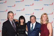 Alec Baldwin, Hilaria Baldwin, Tony Bennett and ETA Co-Founder & Board President Susan Benedetto attend the 9th Annual Exploring The Arts Gala founded by Tony Bennett and his wife Susan Benedetto at Cipriani 42nd Street on September 28, 2015 in New York City.
