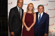 Lester Holt, ETA Co-Founder & Board President Susan Benedetto and Tony Bennett attend the 9th Annual Exploring The Arts Gala founded by Tony Bennett and his wife Susan Benedetto at Cipriani 42nd Street on September 28, 2015 in New York City.
