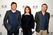 (L-R) Actor Sean Bean, producer Tracey Scoffield and writer/director Benjamin Ross attend the A+E Networks 2016 Television Critics Association Press Tour for The Frankenstein Chronicles at The Langham Huntington Hotel and Spa on January 6, 2016 in Pasadena, California.