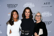 (L-R)  Designer Ruthie Davis, Brooke Shields and Designer Eileen Fisher attend the AAFA American Image Awards 2019 at The Plaza on April 15, 2019 in New York City.