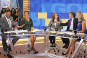 "GOOD MORNING AMERICA - Debra Winger is a guest on ""Good Morning America,"" on Monday, May 8, 2017 airing on the ABC Television Network. (Photo by Lou Rocco/ABC via Getty Images).MICHAEL STRAHAN, ROBIN ROBERTS, DEBRA WINGER, GEORGE STEPHANOPOULOS, LARA SPENCER"