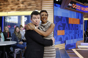 "GOOD MORNING AMERICA - Rick Astley performs live on ""Good Morning America,"" Wednesday, February 15, 2017 on the ABC Television Network. (Photo by Heidi Gutman/ABC via Getty Images).RICK ASTLEY, ROBIN ROBERTS"